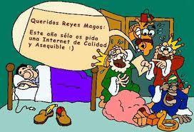 Reyes Magos riéndose de que un hombre les pida Internet de calidad y barato esta Navidad.