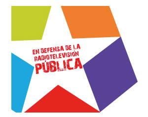 Logo de Telemadrid en defensa de la televisión pública.
