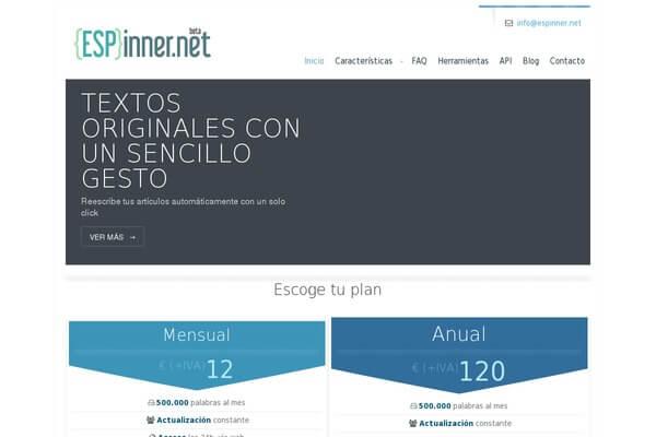 Herramienta de creación de contenidos Espinner.net.