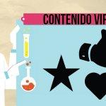 Médico señalando iconos de las Redes Sociales relacionadas con las noticias virales..